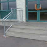 stainless steel steps handrail