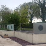 stainless steel outdoor balustrade with toughened glass