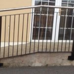 stainless steel and iron handrail outdoor