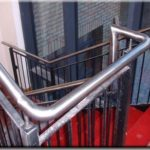indoor stainless steel stairwell globe