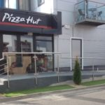 pizza hut stainless steel handrails