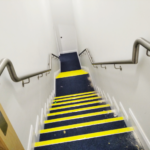 stainless steel stairwell banister