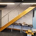 12mm bar landing stairwell balustrade