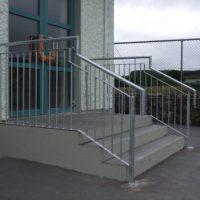 stainless steel steps handrail