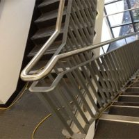 indoor stainless steel stairwell